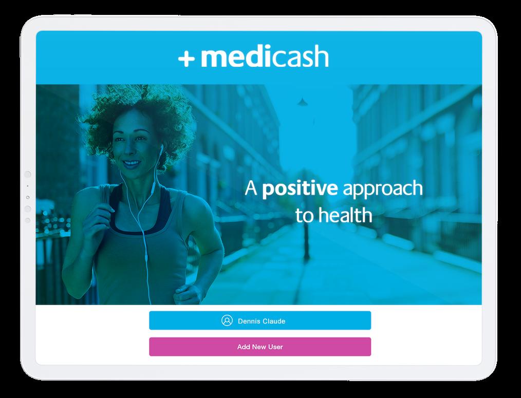 The Medicash app